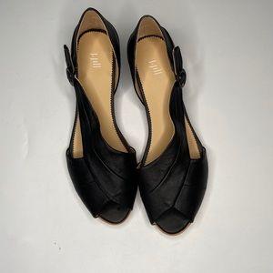 J. Jill leather peep toe sandals
